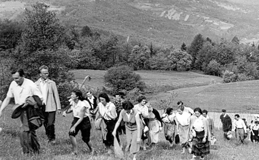 Anton Slodnjak na popotovanju, najbrž vzpon na Èatežu, 1958, foto Cene Omerzelj