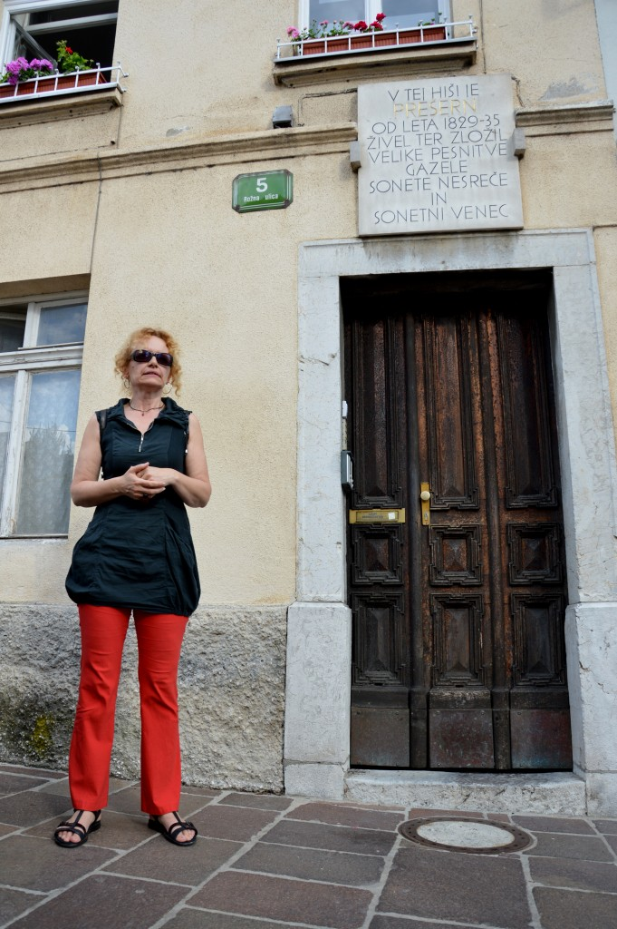 V hiši v Rožni ulici je nekaj časa bival in ustvarjal France Prešeren.