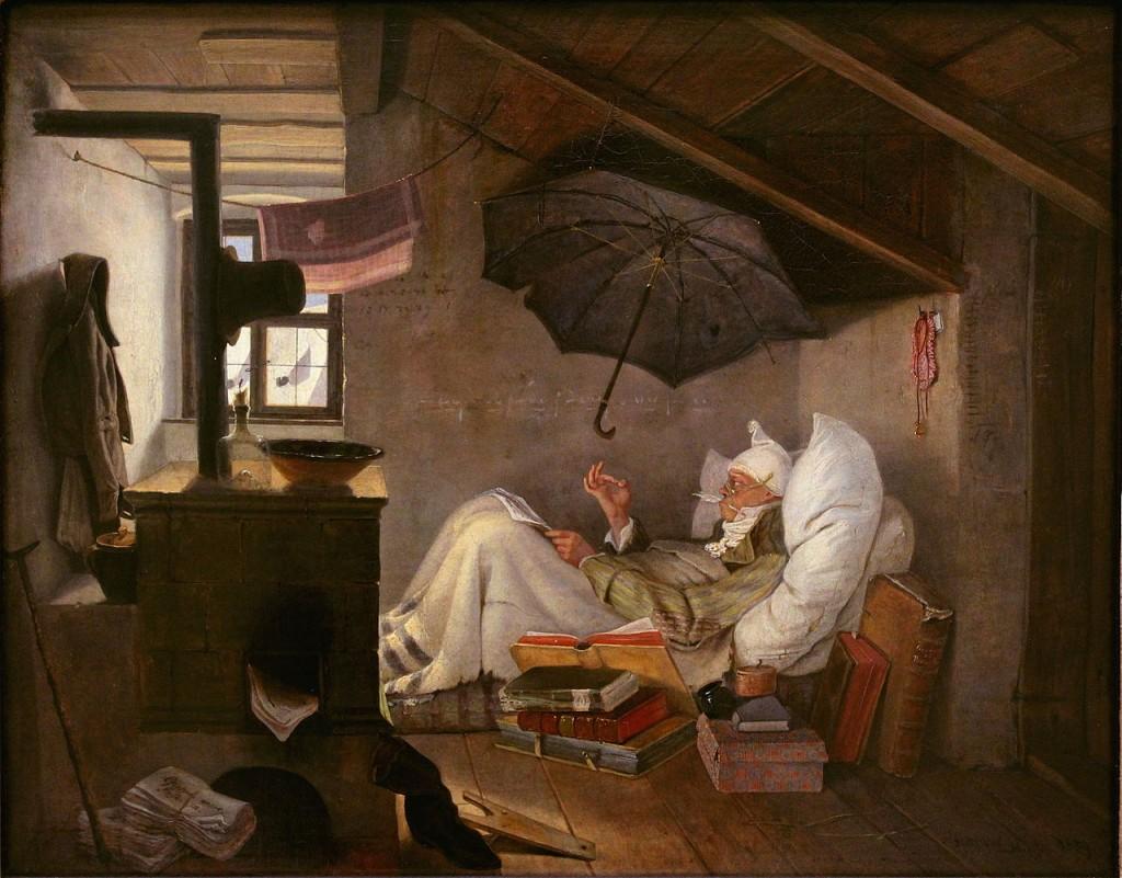 Carl Spitzweg: Der arme Poet, 1839; Wikimedia Commons