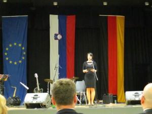 Veleposlanica RS v Nemčiji Marta Kos Marko, govor ob 25 let RS, Stuttgart, junij 2016